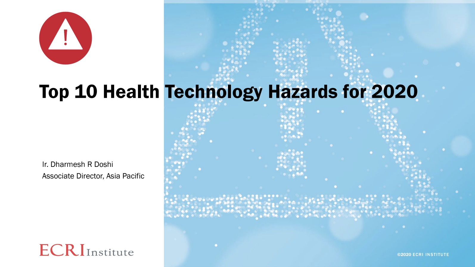 Top 10 Health Technology Hazards for 2020