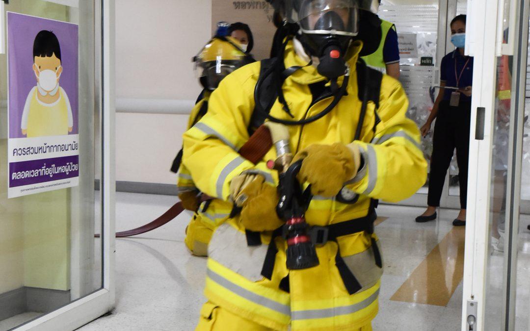 แผนซ้อมดับเพลิงและอพยพหนีไฟย่อย ณ หอพักผู้ป่วย (ward 72)